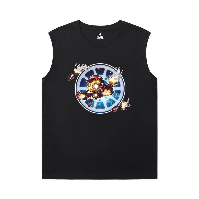 Marvel Iron Man Round Neck Sleeveless T Shirt The Avengers Tee