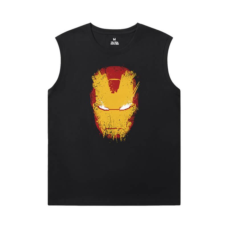 Marvel Iron Man Men'S Sleeveless Graphic T Shirts The Avengers Tee Shirt