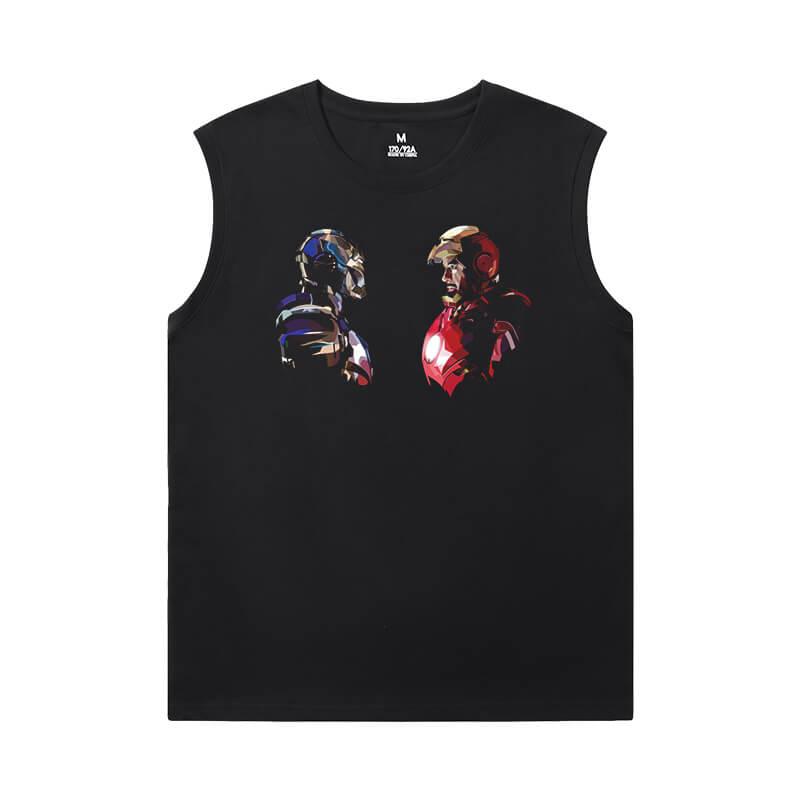 Iron Man T-Shirts Marvel The Avengers Cheap Mens Sleeveless T Shirts