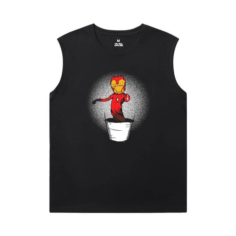 Marvel Iron Man T-Shirt The Avengers T Shirt Without Sleeves