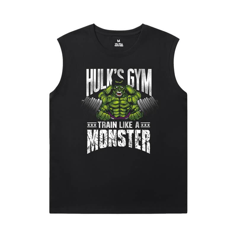 Marvel Hulk Womens Crew Neck Sleeveless T Shirts The Avengers Tee Shirt