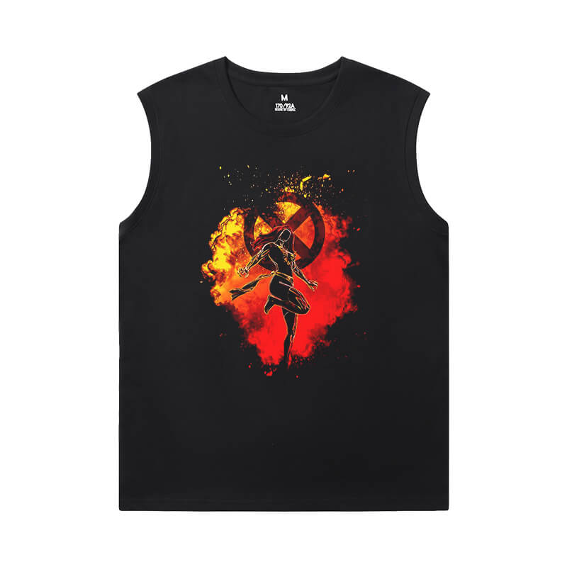 Wolverine Tees Marvel Dark Phoenix X-Men Sleeveless Tshirt Mens