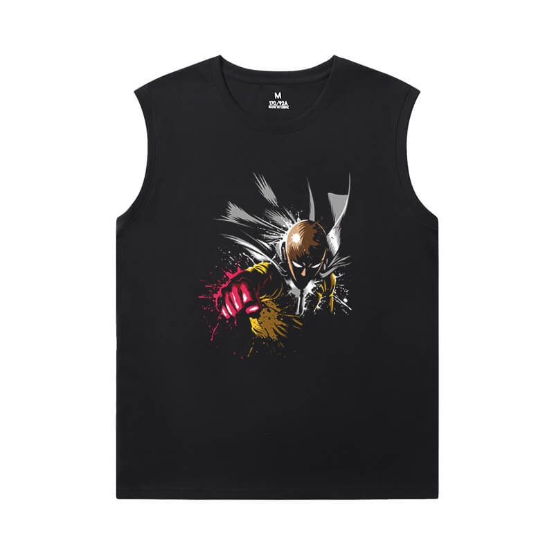 One Punch Man Tee Japanese Anime XXXL Sleeveless T Shirts