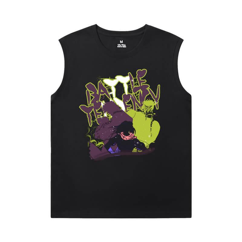 JoJo T-Shirt Anime Kujo Jotaro Mens Sleeveless T Shirts