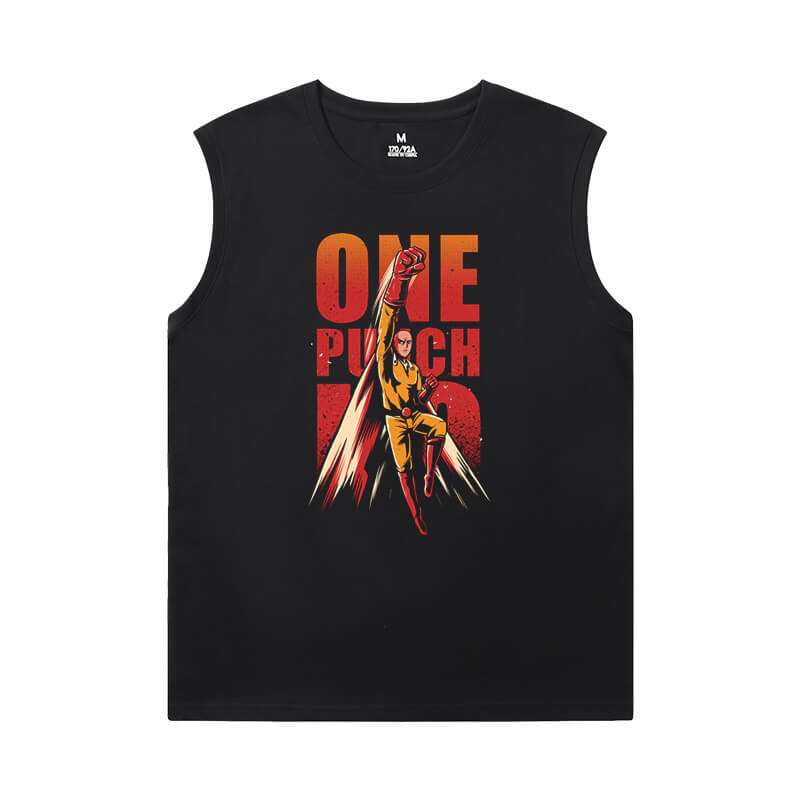One Punch Man T-Shirt Japanese Anime Sleeveless T Shirts Men'S For Gym