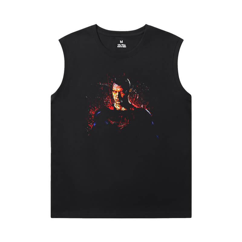 Justice League Superman T-Shirt Superhero Sleeveless T Shirt For Gym