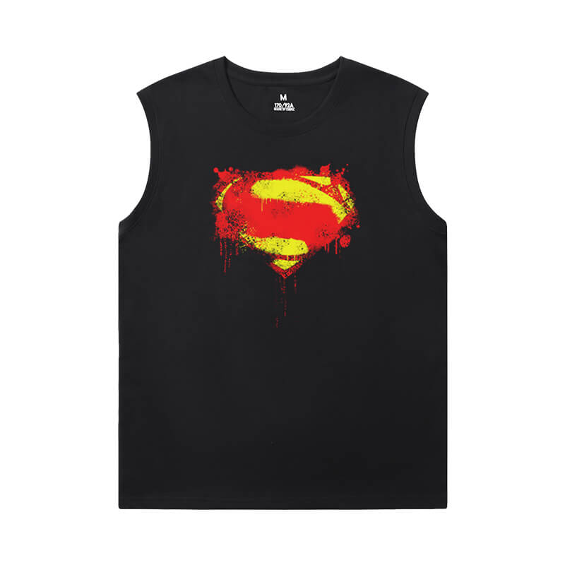 Superhero Shirts Justice League Superman Cheap Sleeveless T Shirts