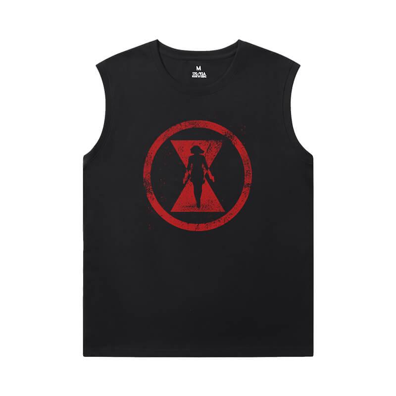 Black Widow 10X Sleeveless T Shirts Marvel The Avengers Shirt