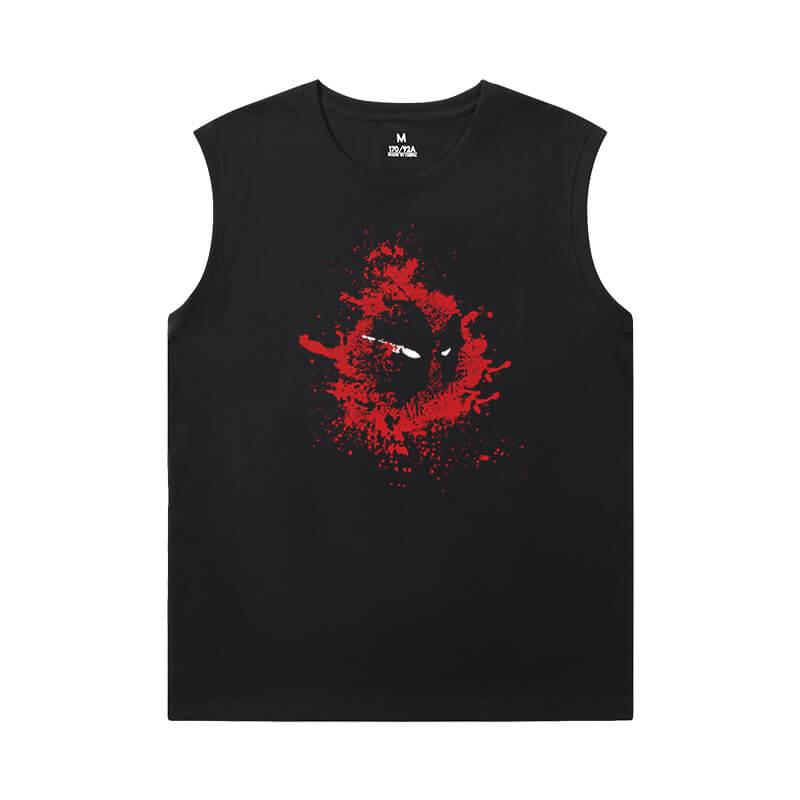 Deadpool Mens Designer Sleeveless T Shirts Marvel T-Shirts