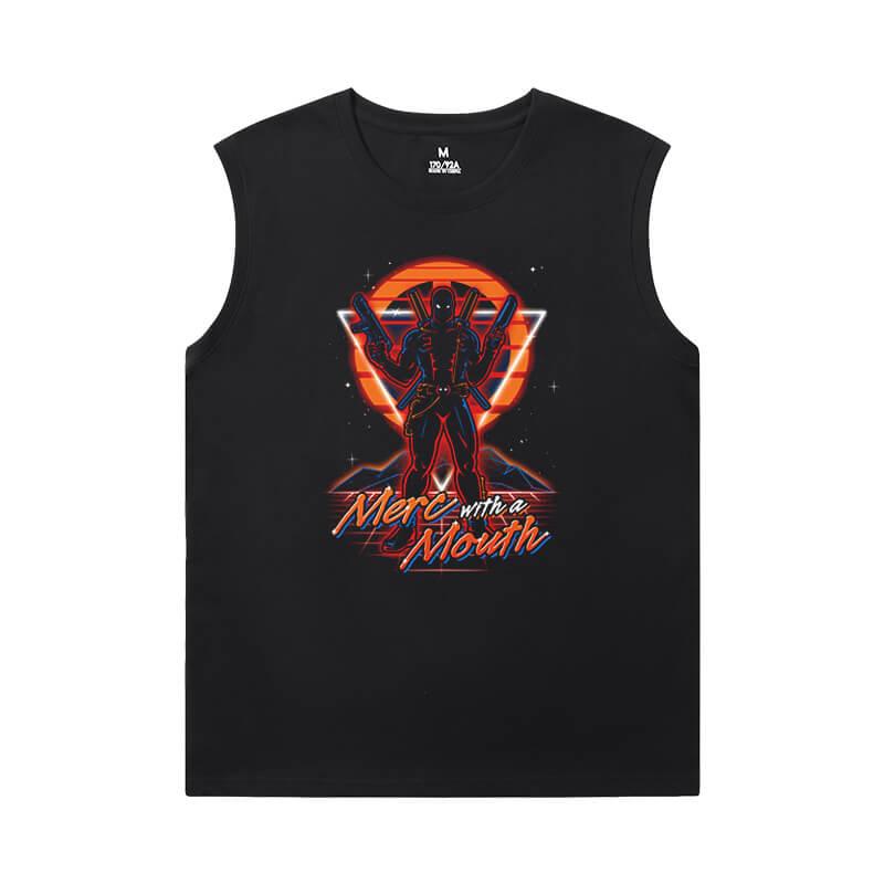 Deadpool Tees Marvel Mens Oversized Sleeveless T Shirt