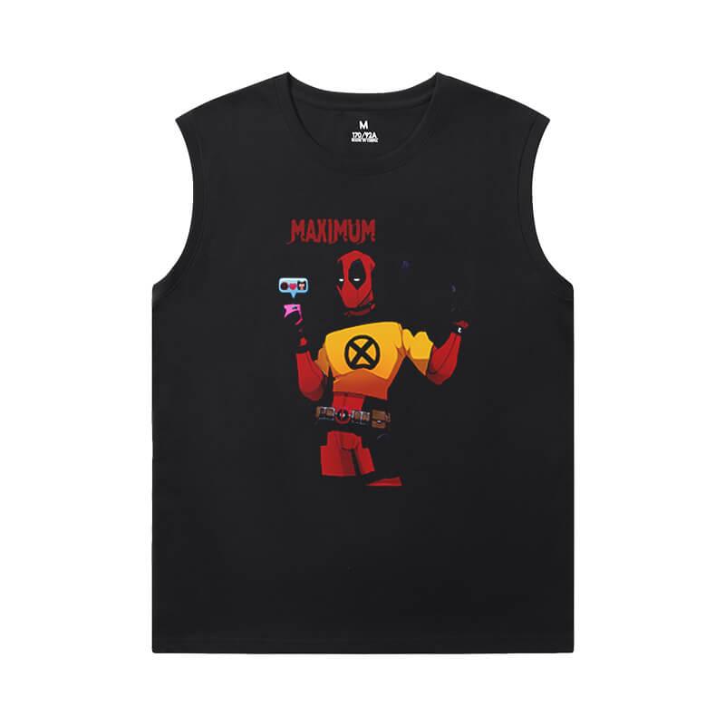 Tshirts Marvel Deadpool Sleeveless Tshirt Men