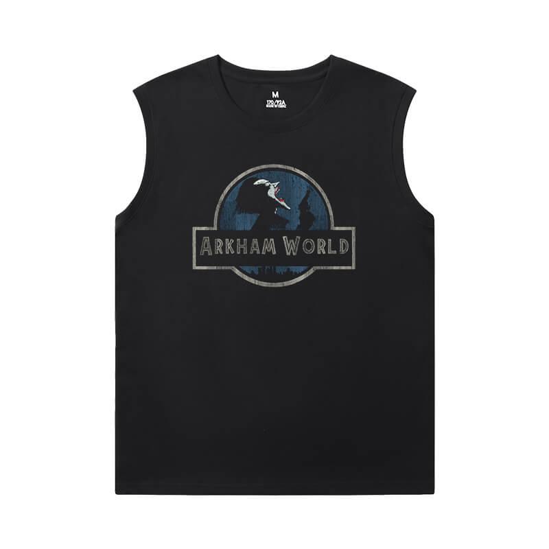 Batman Joker Tee Shirt Marvel Black Sleeveless T Shirt Mens