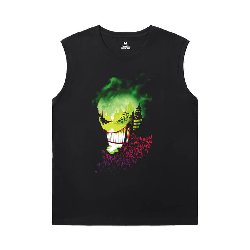 Superhero Tshirts Batman Joker Black Sleeveless Shirt Men