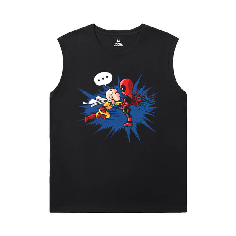 One Punch Man Mens T Shirt Without Sleeves Hot Topic Anime Tee Shirt