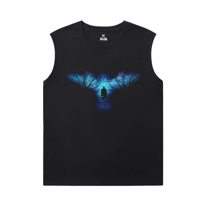 Batman Mens Sleeveless T Shirts Justice League Marvel Shirt