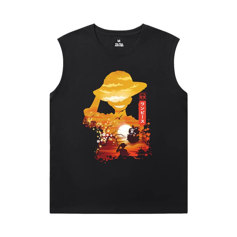 One Piece T-Shirts Anime Edward Newgate Men'S Sleeveless Graphic T Shirts