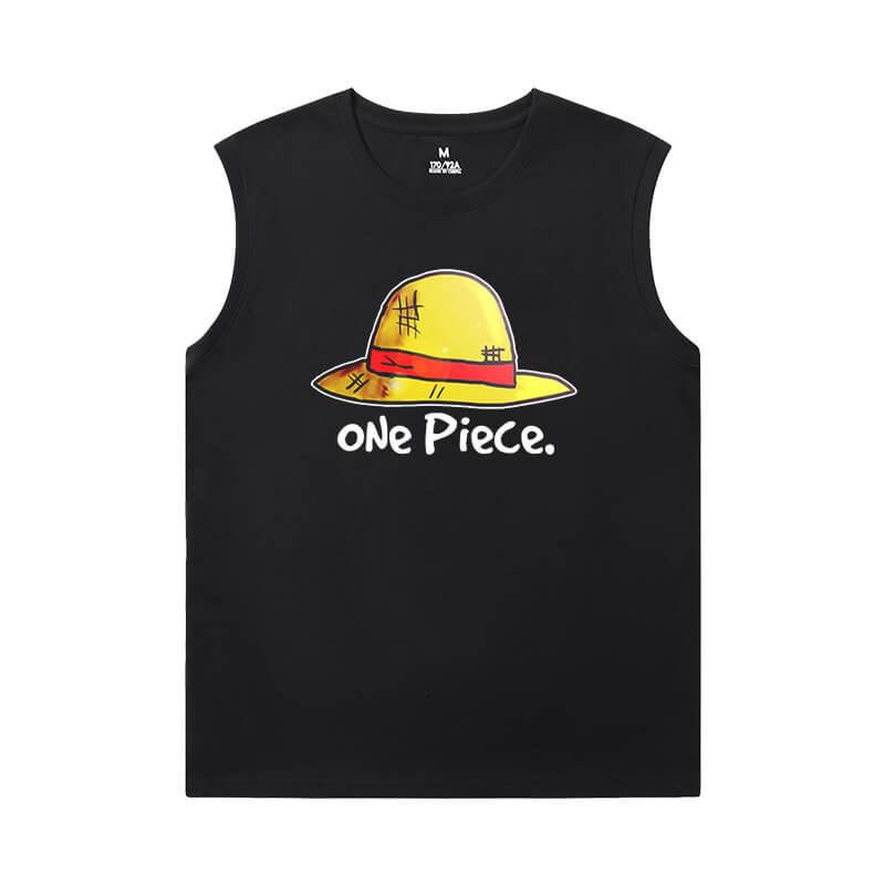One Piece T-Shirt Vintage Anime Edward Newgate Sleeveless Running T Shirt