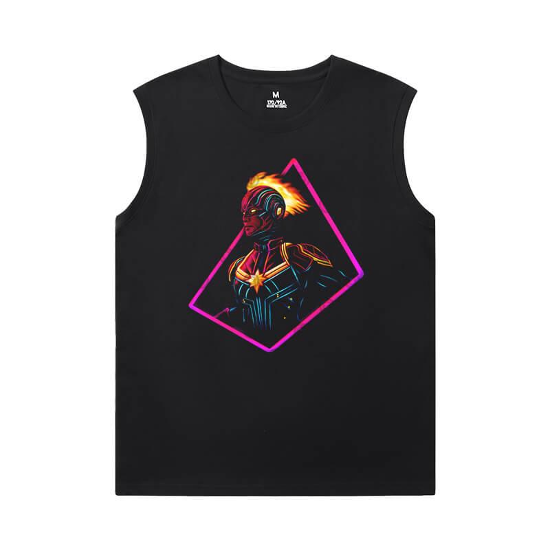 Captain Marvel Shirt Marvel The Avengers Mens Sleeveless T Shirts