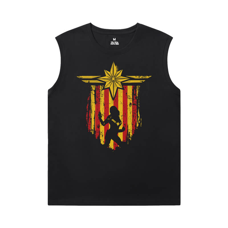 Marvel Captain Marvel T Shirt Without Sleeves The Avengers Tee Shirt