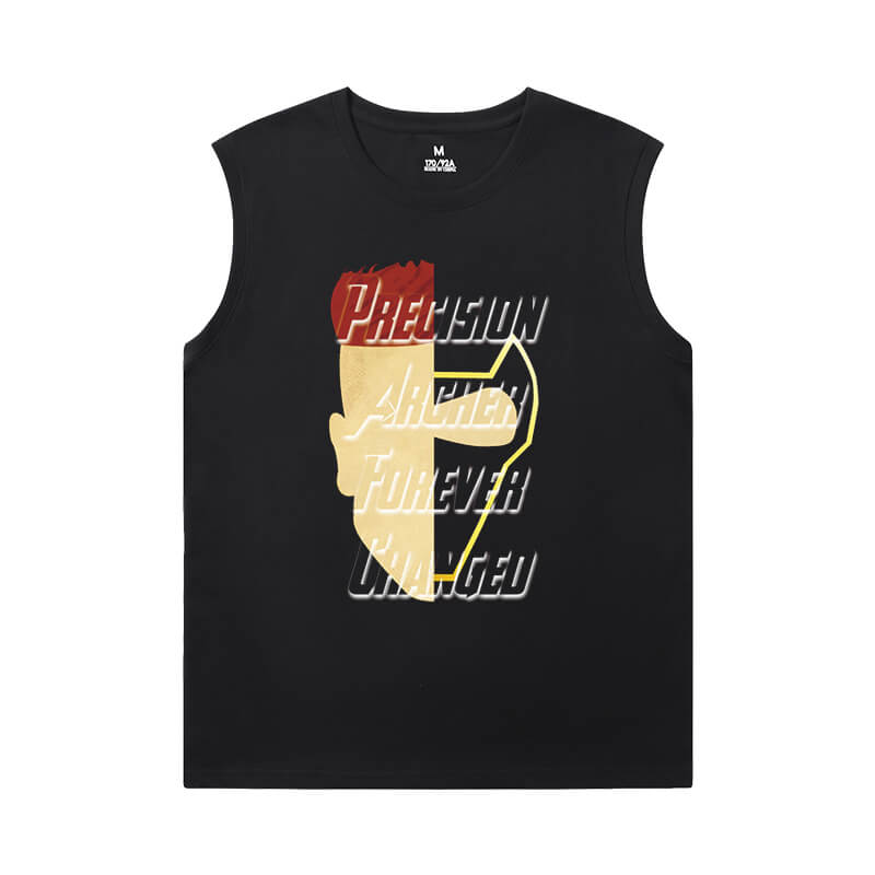 Marvel Hawkeye Black Sleeveless T Shirt Mens The Avengers Tee