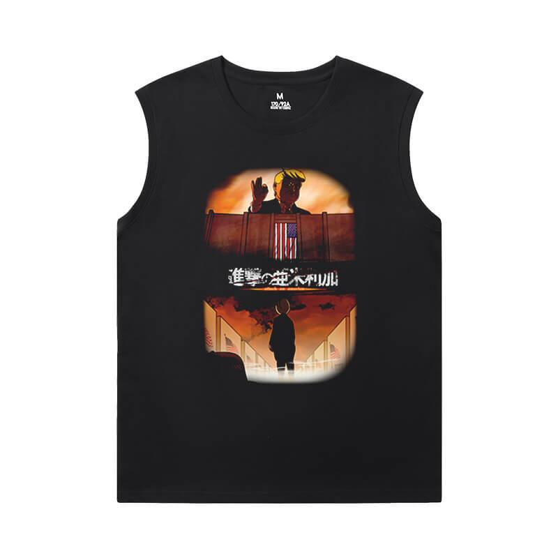 Hot Topic Anime Shirts Attack on Titan Sleeveless Cotton T Shirts