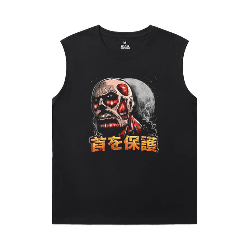 Hot Topic Anime Tshirt Attack on Titan Round Neck Sleeveless T Shirt