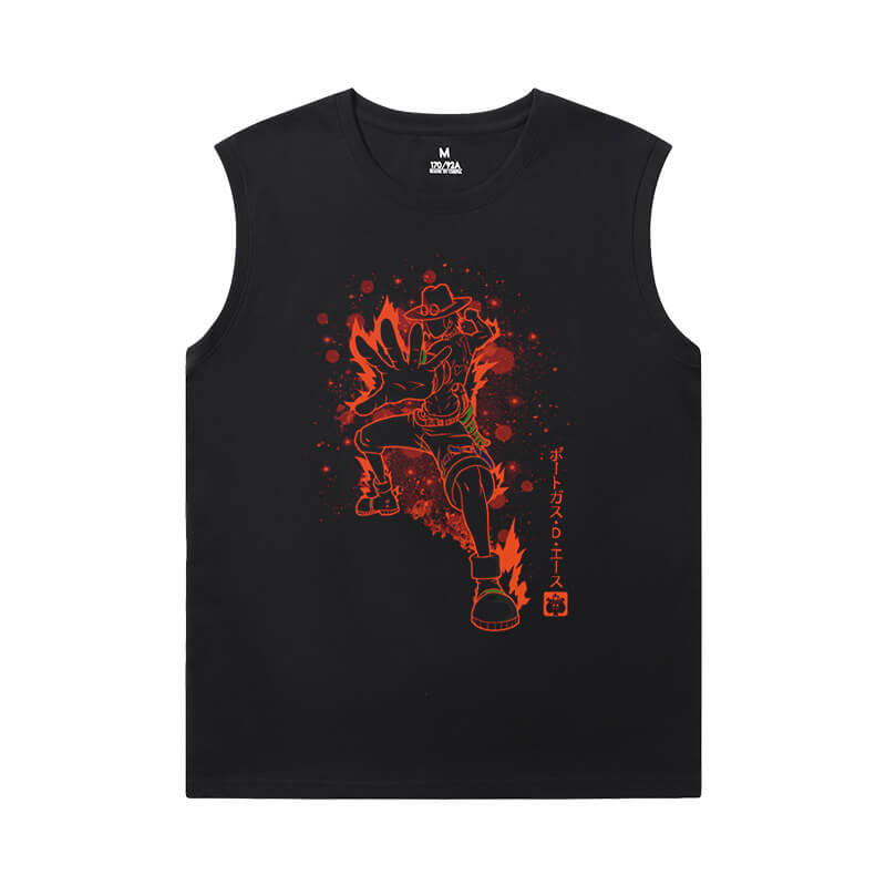 Hot Topic Tshirts Anime One Piece Men'S Sleeveless Muscle T Shirts