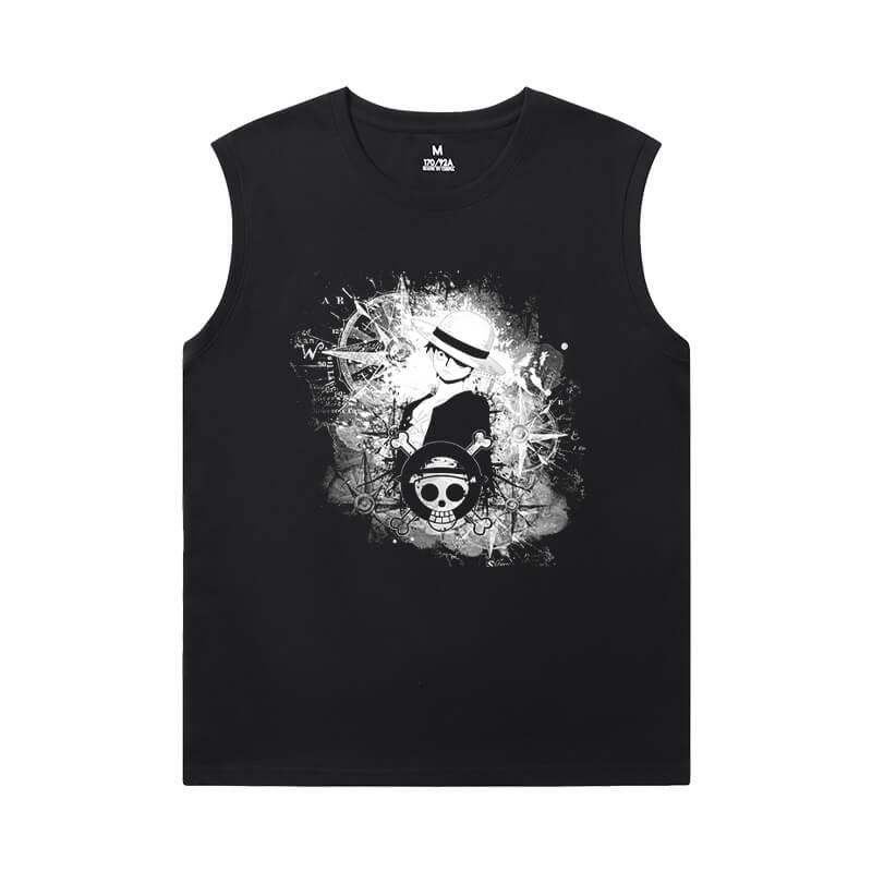 One Piece Mens XXXL Sleeveless T Shirts Anime Personalised T-Shirts