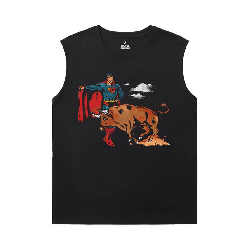 Superman Sports Sleeveless T Shirts Justice League Superhero T-Shirts