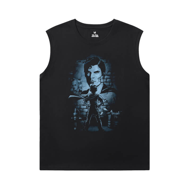 Justice League Superman T-Shirt Superhero Mens Graphic Sleeveless Shirts