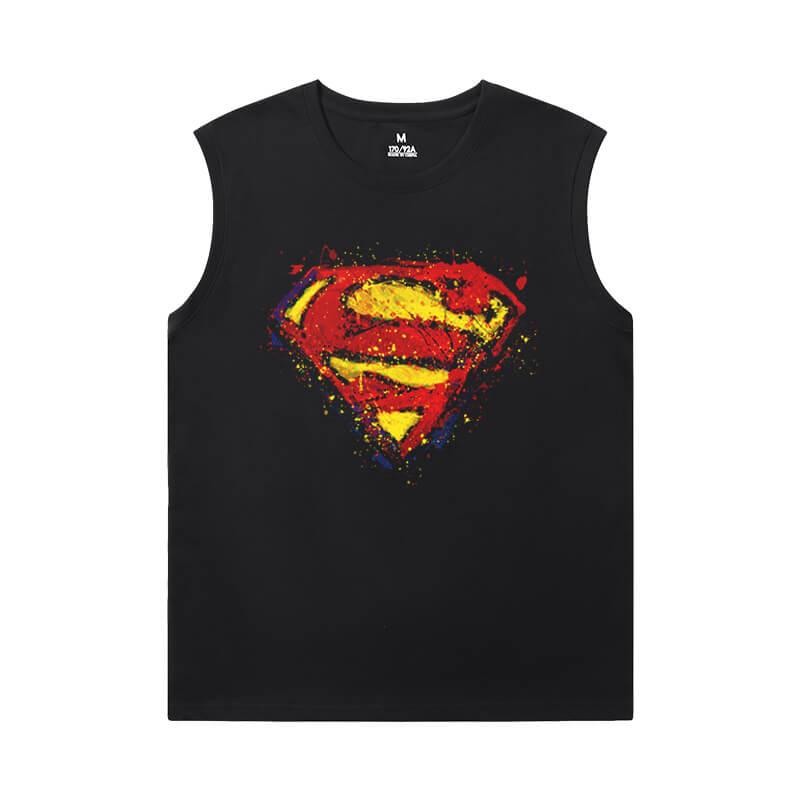 Justice League Superman Sleeveless Tshirt Men Marvel T-Shirt
