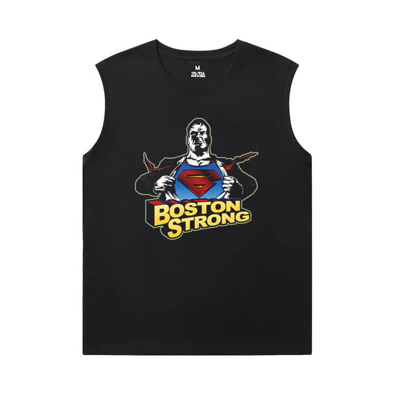 Superhero Tshirt Justice League Superman Sleeveless T Shirts Men'S For Gym
