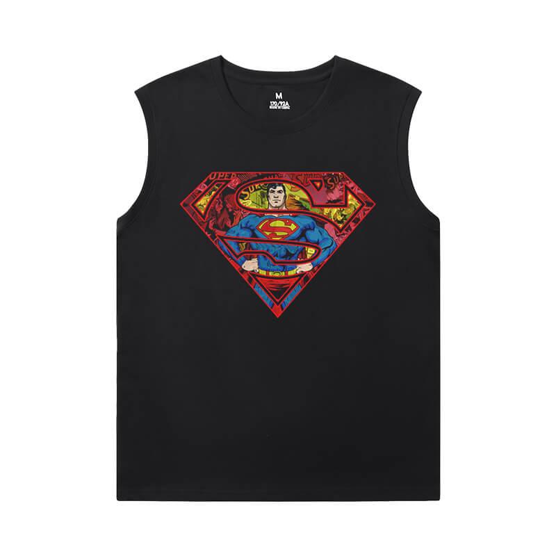 Superman Sleeveless Tshirt For Men Justice League Superhero Shirt