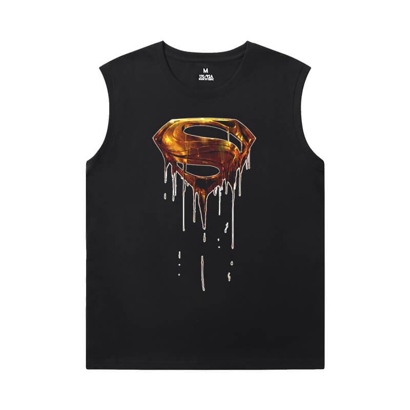 Justice League Superman Men Sleeveless Tshirt Marvel Tee Shirt