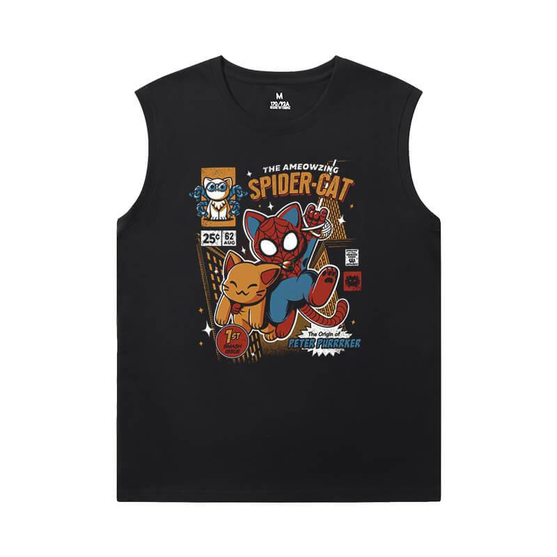 Marvel Spiderman T-Shirt The Avengers Sleeveless Cotton T Shirts