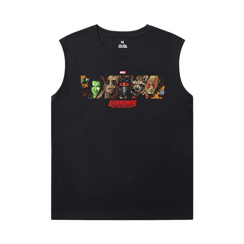 Guardians of the Galaxy Shirt Marvel The Avengers Groot T Shirt Without Sleeves
