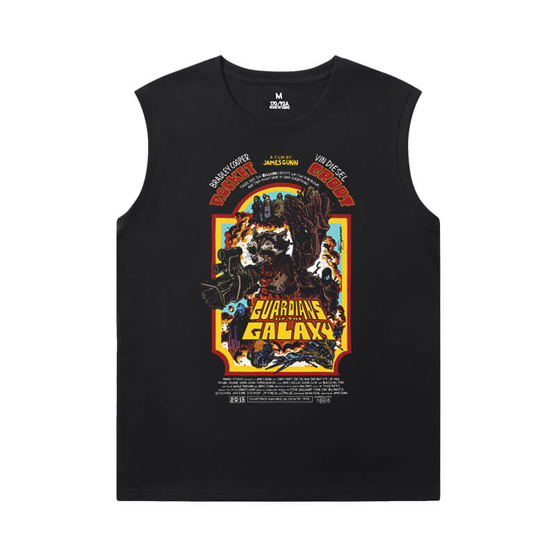 The Avengers Groot Tshirts Marvel Guardians of the Galaxy Sleeveless Sideless Shirt