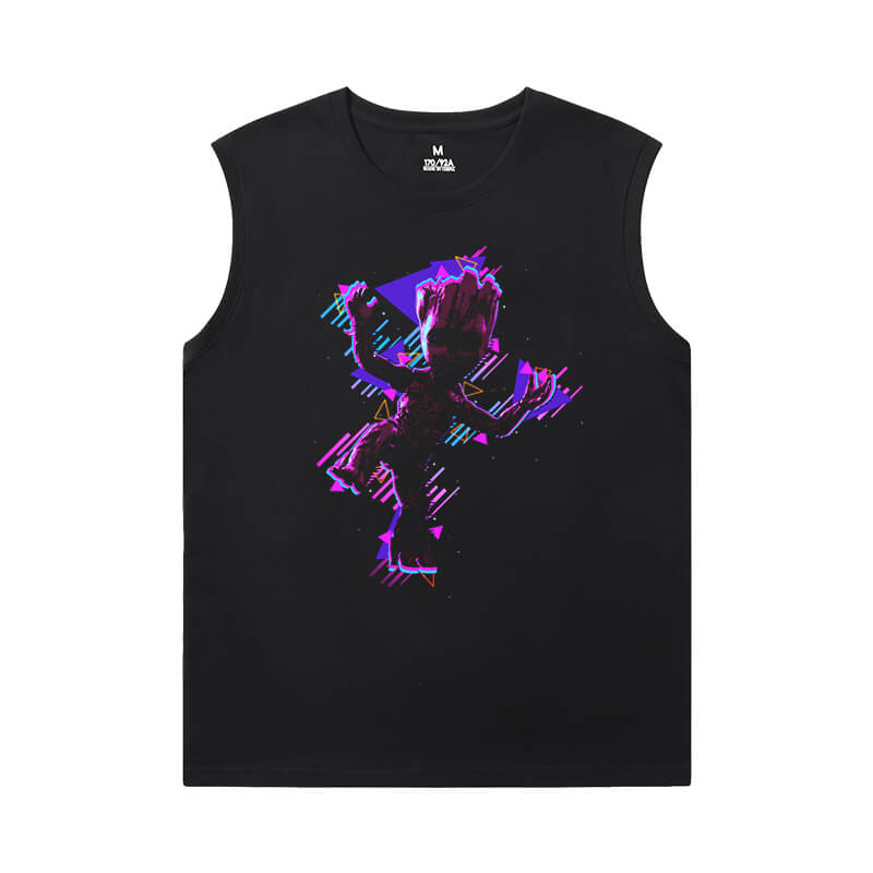 Marvel Guardians of the Galaxy Cheap Mens Sleeveless T Shirts Groot T-Shirt