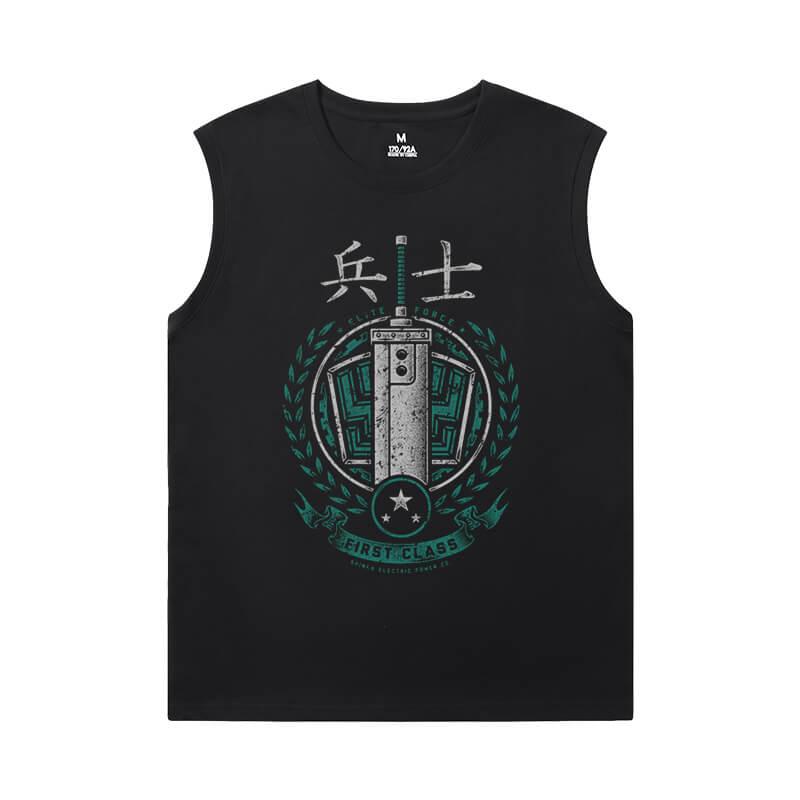 Attack on Titan Tee Vintage Anime Sleeveless T Shirts Men'S For Gym