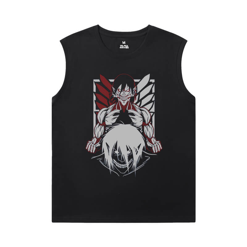 Hot Topic Anime Shirts Attack on Titan Men'S Sleeveless Muscle T Shirts