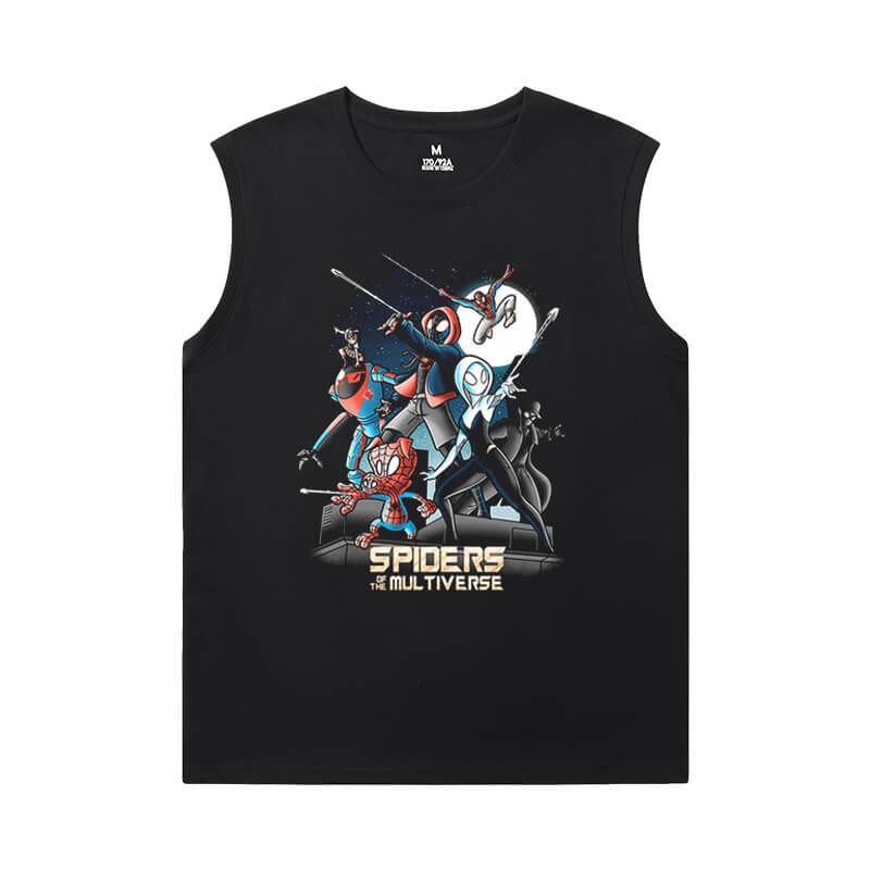 The Avengers Tshirt Marvel Spiderman Sleeveless Tshirt