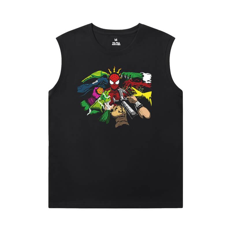 Marvel Spiderman T-Shirt The Avengers Sleeveless Shirts For Mens Online