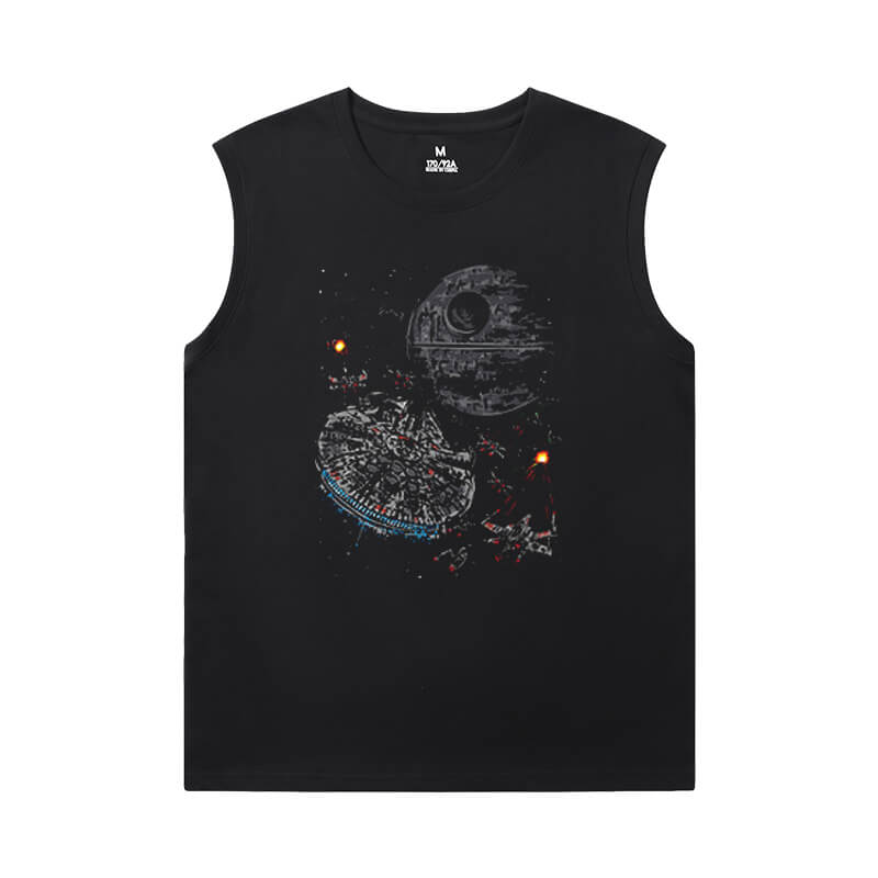 Cotton Shirts Star Wars Sleeveless Round Neck T Shirt