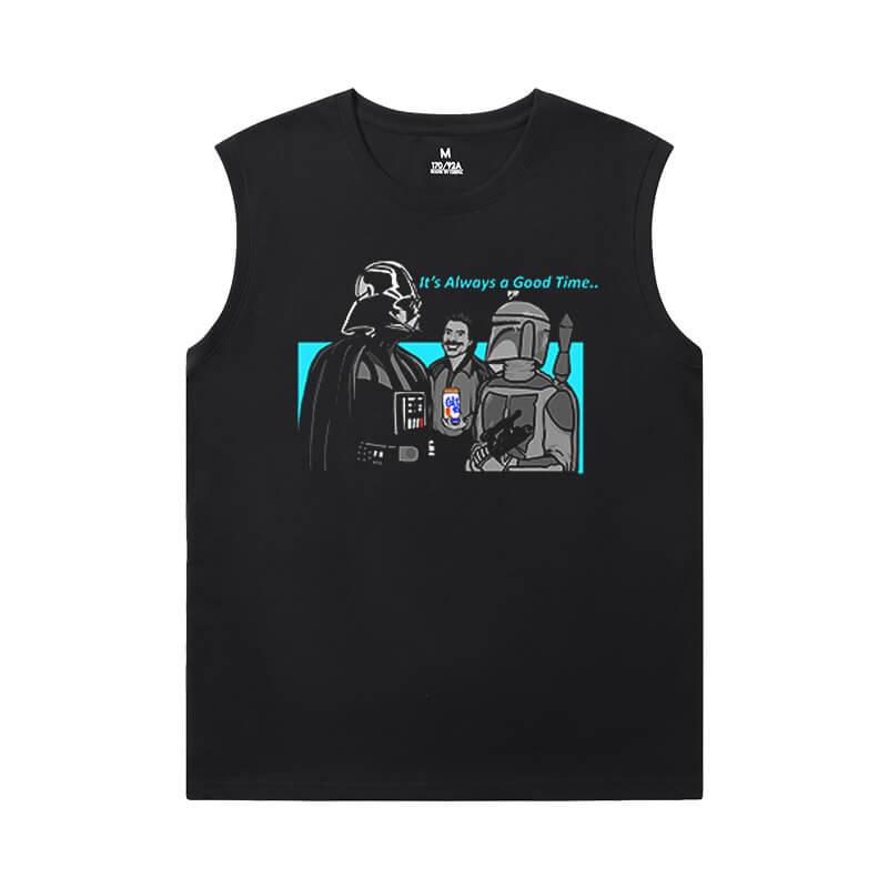 Star Wars Sleeveless Crew Neck T Shirt Quality Shirt