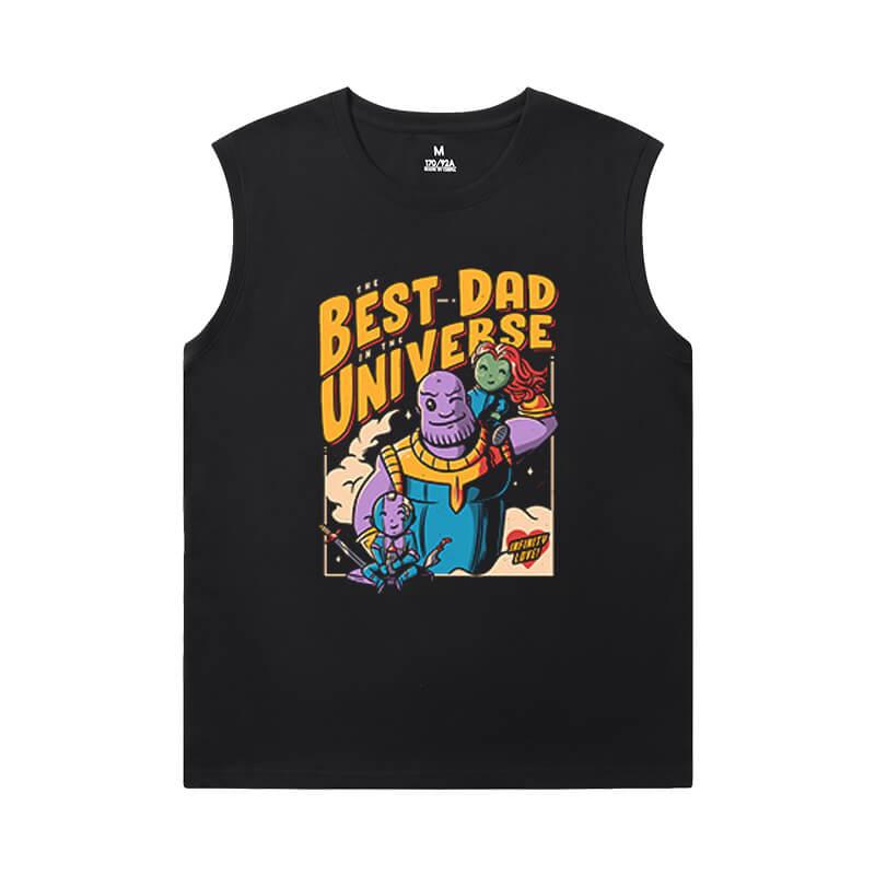 Marvel Thanos Tee Shirt The Avengers Mens Designer Sleeveless T Shirts