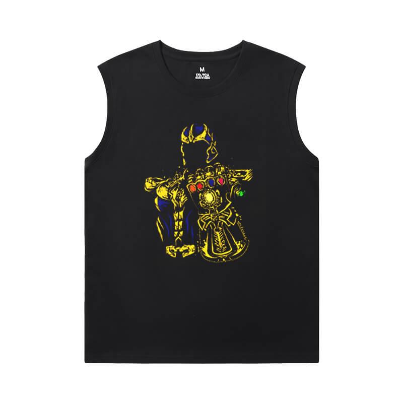 Marvel Thanos Sleeveless T Shirts For Running The Avengers Tee Shirt