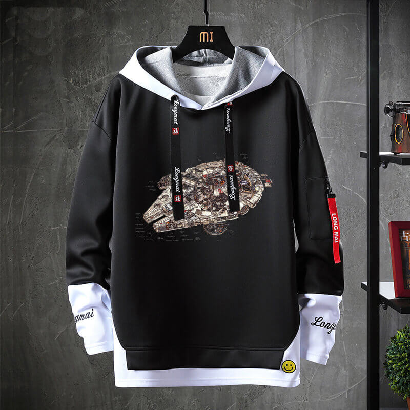 Star Wars Jacket Fake Two-Piece Sweatshirts