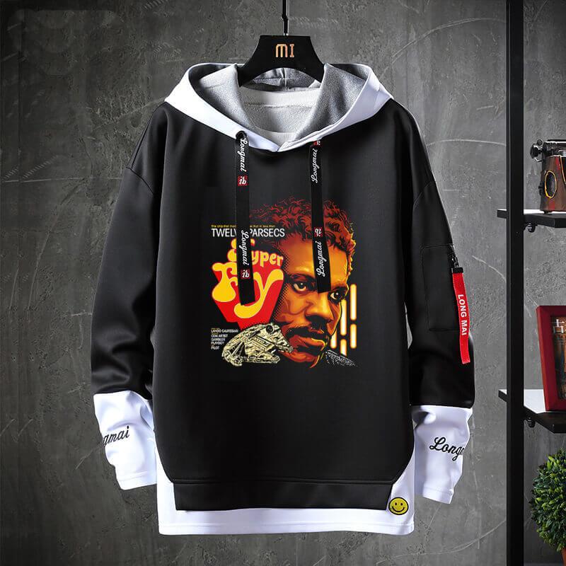 Star Wars Sweatshirt Black Jacket