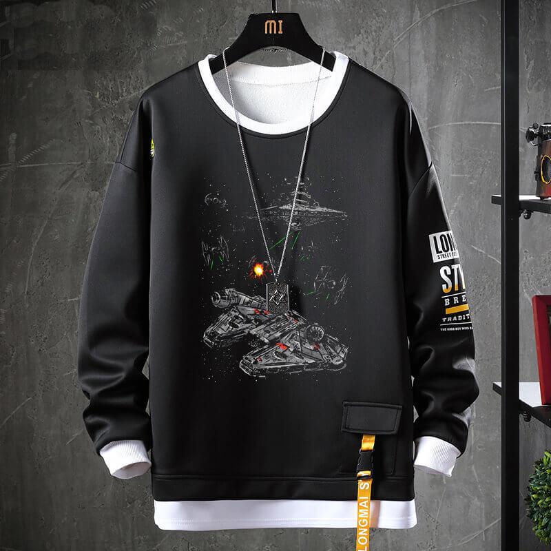 Star Wars Hoodie Fake Two-Piece Sweatshirt