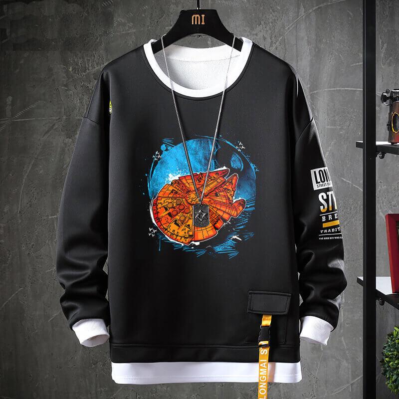 Star Wars Jacket Fake Two-Piece Sweatshirt